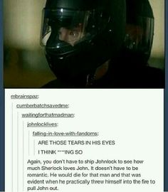 I agree with this statement. I am not a Johnlock shipper but they do love each other (non romantically in my opinion)