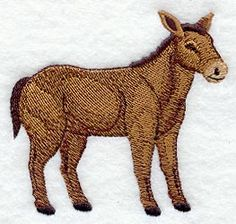 Donkey design (K1167) from www.Emblibrary.com