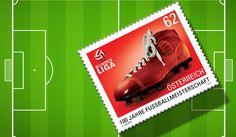 https://mail.google.com/mail/u/0/#inboxThe 100th Anniversary of the Football Championship in Austria. 100 Jahre Fußballmeisterschaft in Österreich. Briefmarke.Stamps. Stamp. Post.