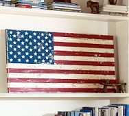 Pottery Barn Inspired American Flag 4th of July
