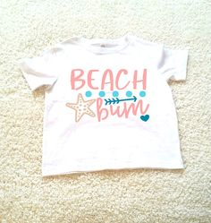 Beach bum graphic tee children's Tshirt. Sizes 2T 3t