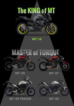 The KING of MT [MT-10]. MASTER of TORQUE [MT-09] [MT-07] [MT-09 TRACER] [MT-03].