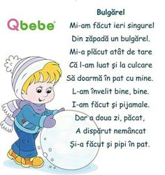 Bulgarel poezie copii Experiment, Kids Poems, Winter Kids, Worksheets For Kids, Kids Reading, Kindergarten Activities, Raising Kids, Kids Education, Nursery Rhymes
