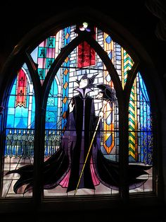 Wicked Witch Stained Glass by CoasterMadMatt, via Flickr