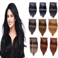 Jet Black Brazilian Straight Clip In Hair Extensions 200g 7A Brazilian Clip In Human Hair Extensions 7Pcs/Set Remy Hair Clip Ins //Price: $US $17.92 & FREE Shipping //   http://humanhairemporium.com/products/jet-black-brazilian-straight-clip-in-hair-extensions-200g-7a-brazilian-clip-in-human-hair-extensions-7pcsset-remy-hair-clip-ins/  #human_hair