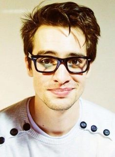 Brendon Urie from Panic! at the Disco, totally rocking the glasses and great hair.