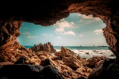 Corona Del Mar beach, I've been in these caves! As kids they were part of our school field trips