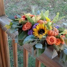 Sunflower Centerpieces, Wedding Centerpieces, Wedding Decorations, Wedding Inspiration, Design Inspiration, Orange Roses, Fall Wedding, Greenery, Wedding Flowers