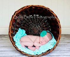 Baby Girl Headband Green Flower Headband by LittleBittyBlossom, $7.75