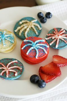 Add some spark this Fourth of July with Festive Firework Pancakes!