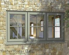 Flush, Triple Casement, Painted Window - Georgian Bar - TimberMaster Ltd Barn Windows, Grey Windows, Cottage Windows, Front Doors With Windows, Cottage Door, Cottage Exterior, Casement Windows, House Windows, Exterior Windows