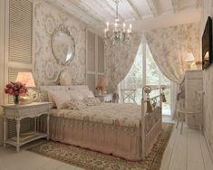 Дизайн квартиры в Сочи-Прованс, Шебби-шик. Спальня
