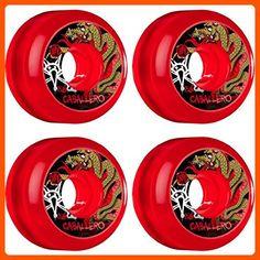 Bones Wheels Caballero SPF Dragon 58mm Clear Red Skateboard Wheels (Set of 4) - For all the skaters (*Amazon Partner-Link)