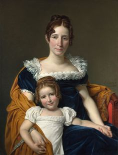 Portrait of the Comtesse Vilain XIIII and her Daughter  1816, Jacques-Louis David