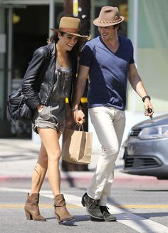 Ian ~lovingly~ gazes down at his beloved while holding her hand as they cross the street. | 9 Devastating Pictures Of Ian Somerhalder & Nikki Reed In Love