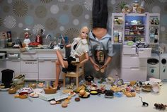 Barbie Gastromancy - Mariel Clayton's approach is a bit gruesome... fashion model gone loco. A humorous antidote to the oversweet images of women aka dolls? The Sarah Lucas of the doll world maybe.