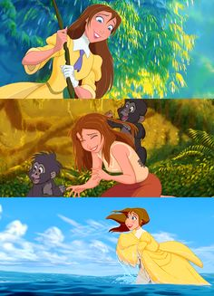 Jane (character)I was saved! I was saved by a flying wild man in a loincloth. #Tarzan