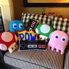 Large Video game controller Nintendo inspired Geeky by AtomicPlush