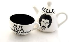 Hello Lionel Richie Ritchie Is it Tea Teapot Tea For by LennyMud