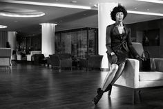 Naomi Campbell in Giorgio Armani photographed by Willy Vanderperre for W Magazine, November 2013.