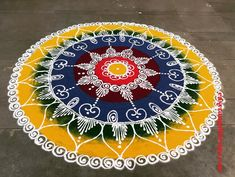 50 Tough Rangoli Design (ideas) that you can make yourself or get it made during any occasion on the living room or courtyard floors.