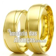 51e18e19788 Alianças em ouro 18k Largura 6.0mm Pedras 1 diamante de 2 pontos Acabamento  Fosco e