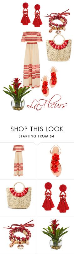 """Untitled #312"" by lafleurs ❤ liked on Polyvore featuring Celia Dragouni, Charlotte Olympia, Hat Attack, Accessory PLAYS and Nearly Natural"