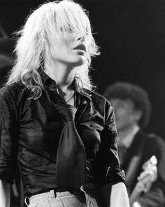 Debbie Harry: black tie. Blondie in Manchester, September 14, 1978, by Kevin Cummins.
