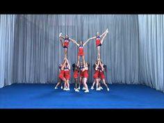 Pyramids 17 Notre Dame Football, Ohio State Football, Ohio State University, Ohio State Buckeyes, American Football, College Football, Cheer Pyramids, Cheerleading Pyramids, Cheer Coaches