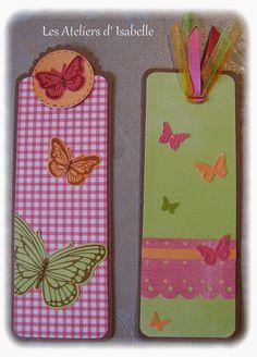 Marque-pages thème papillons