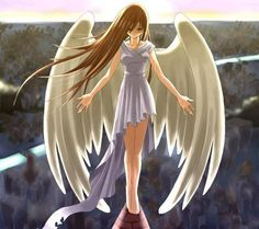 Anime Angels and Demons Demon Wings, Ange Demon, Art Manga, Anime Art, Anime Fantasy, Fantasy Art, Tears Of An Angel, Angel Y Diablo, Anime Angel Girl