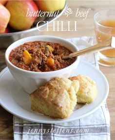 Jenny Steffens Hobick: Butternut & Beef Chili | Fall Recipe