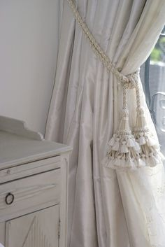 Tie back curtains with class.