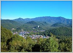 Gatlinburg TN seen from above on the Gatlinburg Chamber website