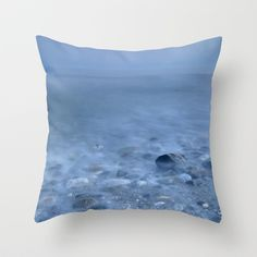 Blue sea.  Throw Pillow by Guido Montañés - $20.00