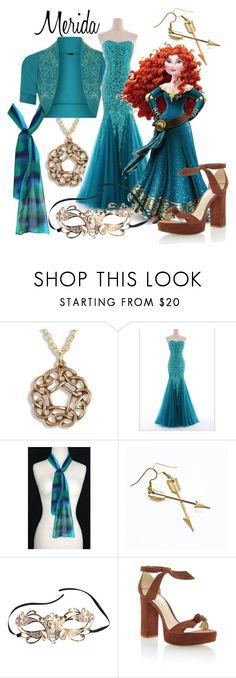 """""""Merida - Masquerade (A Disney-Inspired Outfit)"""" by one-little-spark ❤ liked on Polyvore featuring Merida, Alexandre Birman, disney, Masquerade and disneybound"""