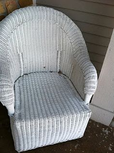 Paint Ideas: Prep & Paint Wicker---wicker chairs/loveseat on the front porch....