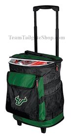 South Florida USF Bulls Rolling Cooler for Gameday - Tailgating $60.00