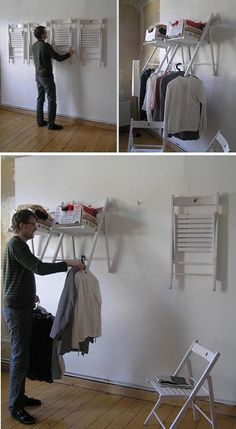12 Do It Yourself Ideas for Creative Recycling  This particular idea in the photo's is genius!  Even I could do it!  :-)  T