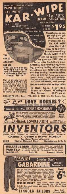 Fantastic Novels Magazine- 'Animal Lovers' & Others Magazine Ads, 1940s, That Look, Novels, Animal, Movie Posters, Vintage, Film Poster, Popcorn Posters
