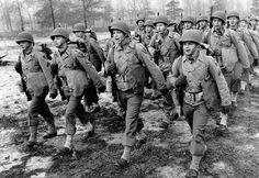 U.S. troops marching
