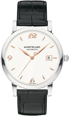 Montblanc presents:Montblanc Star Classique Date Automatic Fine Watches, Cool Watches, Watches For Men, Men's Watches, Mont Blanc Watches, Montblanc Boheme, Glashutte Original, Luxury Pens, Affordable Watches