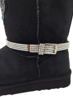 COWGIRL BOOT CHARM WORD CHARM Boots and Bling its a Cowgirl Thing Rhinestone Bag