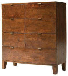 Reclaimed Solid Wood Chest with 7 Drawers in Jamaican Sunset Finish