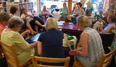 We love it when we get a big crowd during our Stitch 'N' Spin knit groups or our Saturday morning classes!
