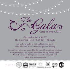gala invite | The Portland Gala Invitation 2010