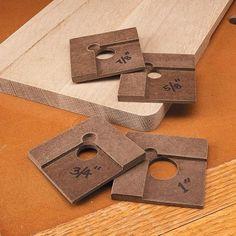 Templates for marking a corner radius, Versatile Layout Tools | Woodsmith Tips
