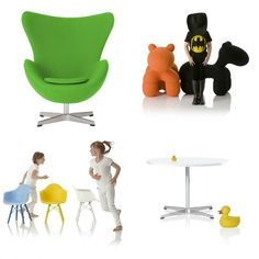 Little Nest modern children's playroom furniture.