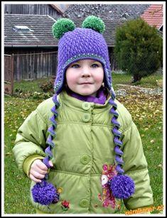 Jednoduchý plastický vzorek ušanka čepičku baret či šála   Mimibazar.cz Crochet Necklace, Winter Hats, Crochet Hats, Fashion, Knitting Hats, Moda, Fashion Styles, Fashion Illustrations
