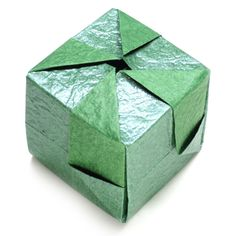 How to make origami cube Origami Cube, Origami Boxes, Paper Cube, How To Make Origami, Decorative Boxes, Paper Crafts, Ideas, Origami Box, Paper Craft Work